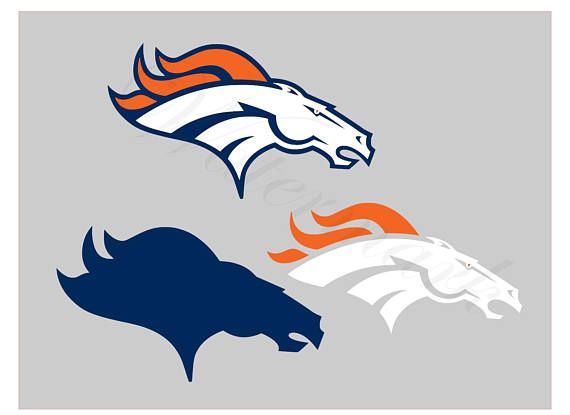 Denver Broncos SVG And Studio 3 Cut File Stencil Decal
