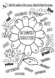 english worksheet months and seasons education pinterest worksheets. Black Bedroom Furniture Sets. Home Design Ideas