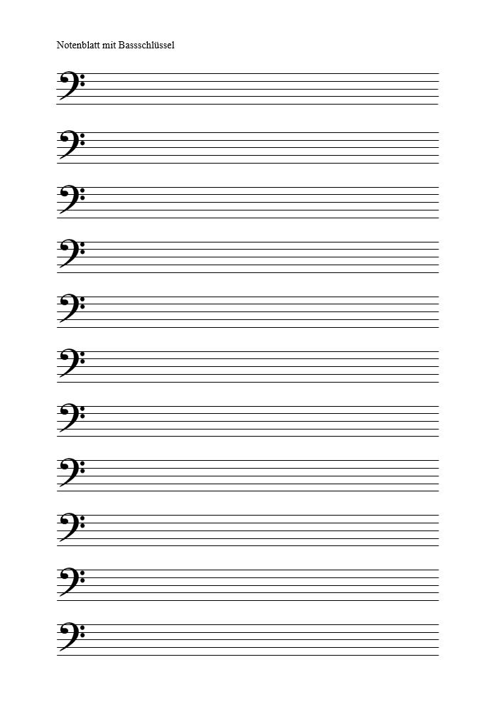 Notenpapier Ausdrucken Notenlinien Pdf Vorlage