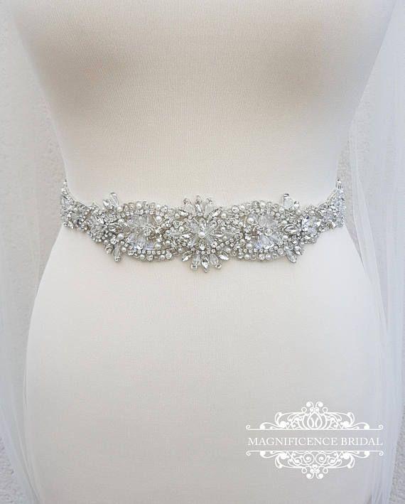 Bridal belt, Vintage style belt, Crystal belt, Wedding belt, beaded ...