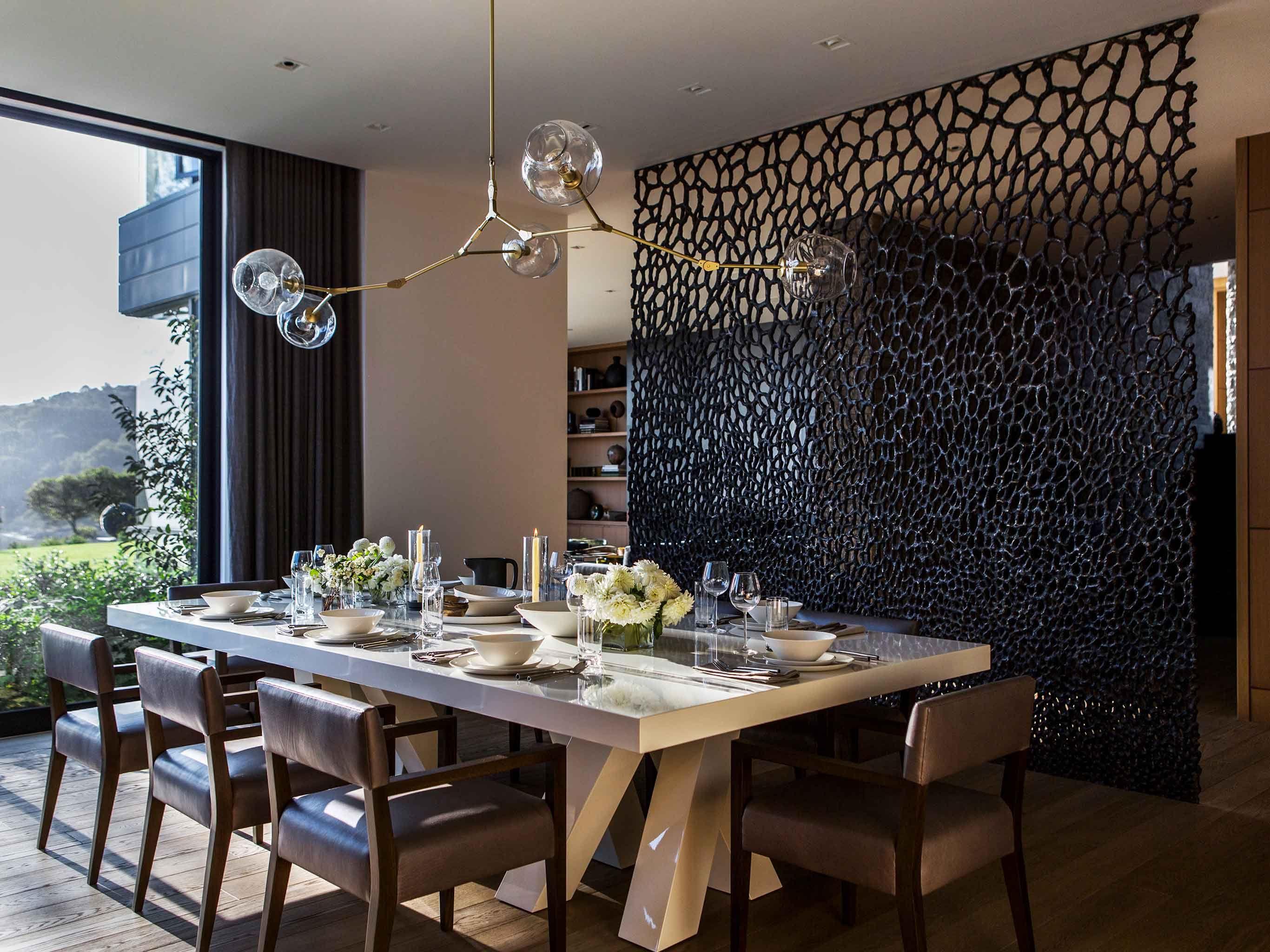 Dining Room in Belvedere Tiburon, CA by NICOLEHOLLIS