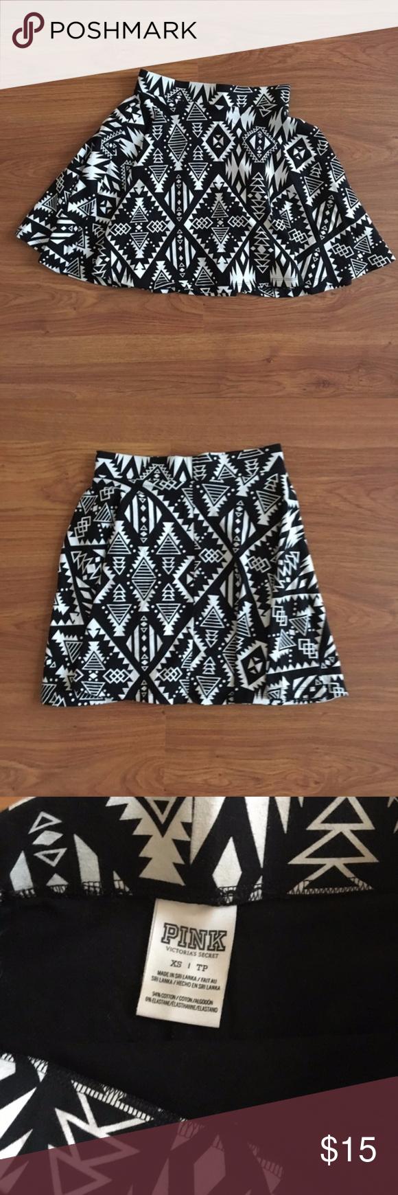 Victorias Secret PINK Black High Waisted Stretch Mini Skirt XS