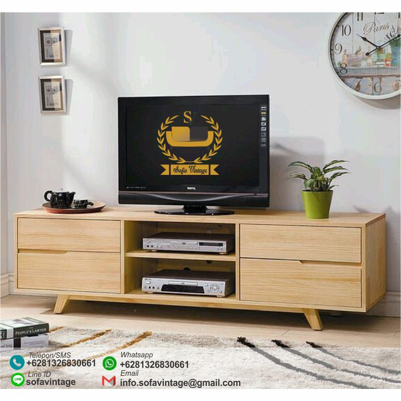 Bufet Tv Vintage Minimalis Avante Bufet Tv Retro Jati Mebel