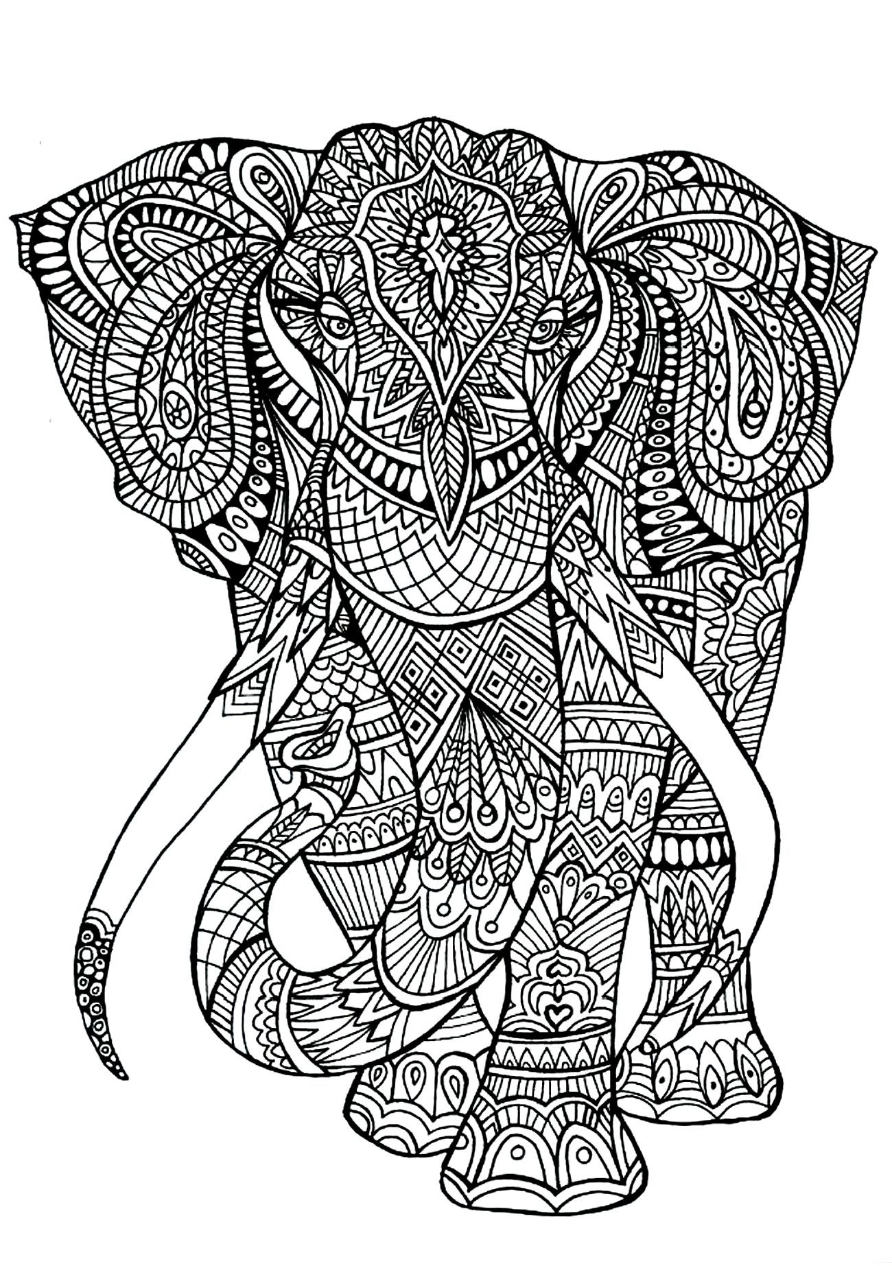 Free Coloring Pages Printables Elephant Coloring Page Animal
