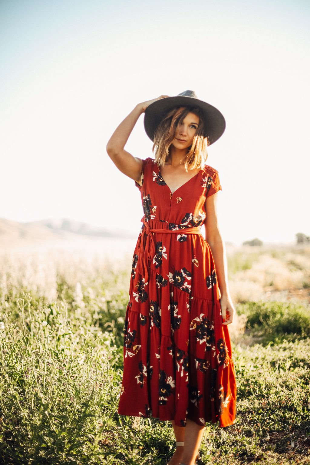 dde1f50f184 FREE PEOPLE  ALL I GOT PRINTED MAXI DRESS IN RED COMBO   DRESSES   WOMENS  CLOTHING