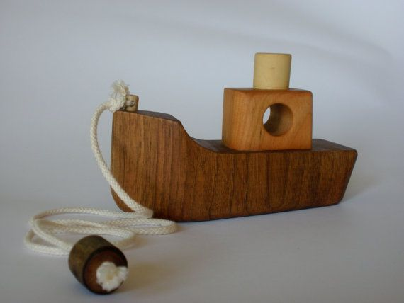 Wooden Pull Toy Eco Friendly Boat By Toporko On Etsy 29 00 Pull Toy Kids Wooden Toys Wood Toys
