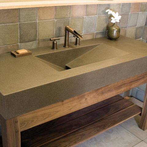 Love The Sink Counter Top But Not The Back Splash Concrete