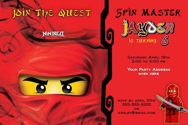Free Printable Ninjago Birthday Invitations Lego Ninjago Party