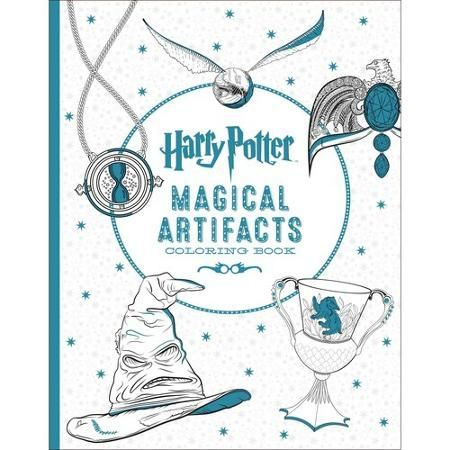 Harry Potter Artifacts Coloring Book Paperback Walmart Com Harry Potter Coloring Book Coloring Books Harry Potter Coloring Pages