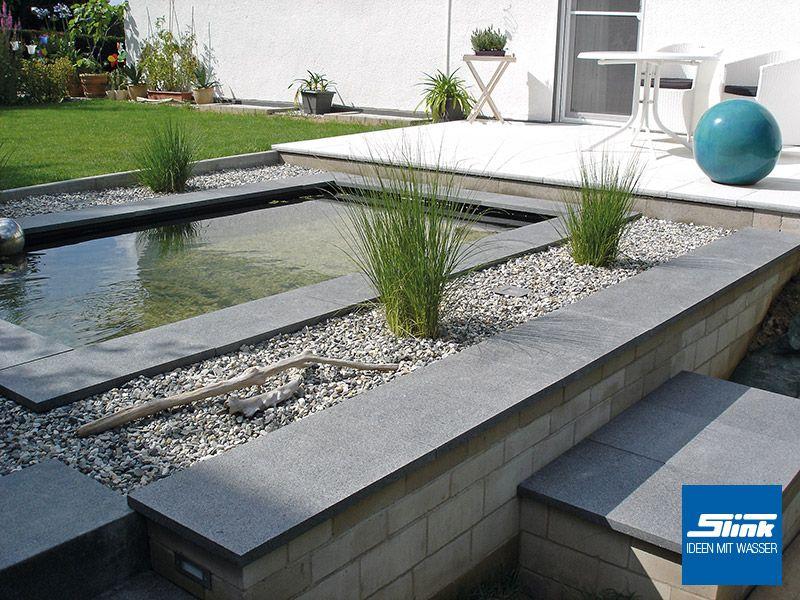gfk-teichbecken/fertigteich/rechteckiges wasserbecken mit einer, Gartenarbeit ideen