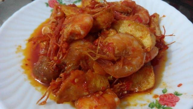 Resep Udang Kentang Sambal Extra Pedas Oleh Nat Resep Makanan Resep Udang Kentang