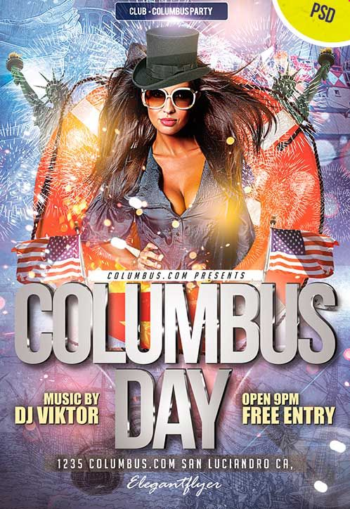 Get Columbus Day Club And Party Free Psd Flyer Template From Http