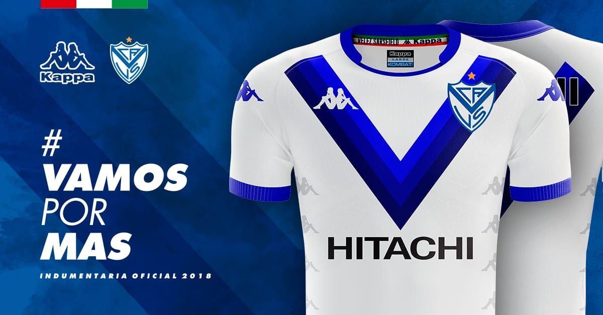 cae47564f345a Camiseta titular Velez Kappa 2018