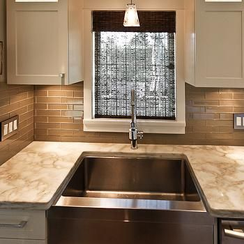 Taupe Backsplash Tile Martinique