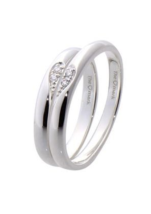 #LoveMarkPH Love Concept Silver Couple Ring: Made of 92.5% silver & 2 pieces cubic zirconia [Item code lr0018]