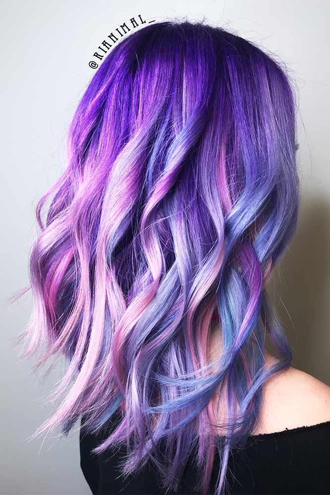 46 Purple Hair Styles That Will Make You Believe In Magic Hair Styles Hair Color Purple Mermaid Hair