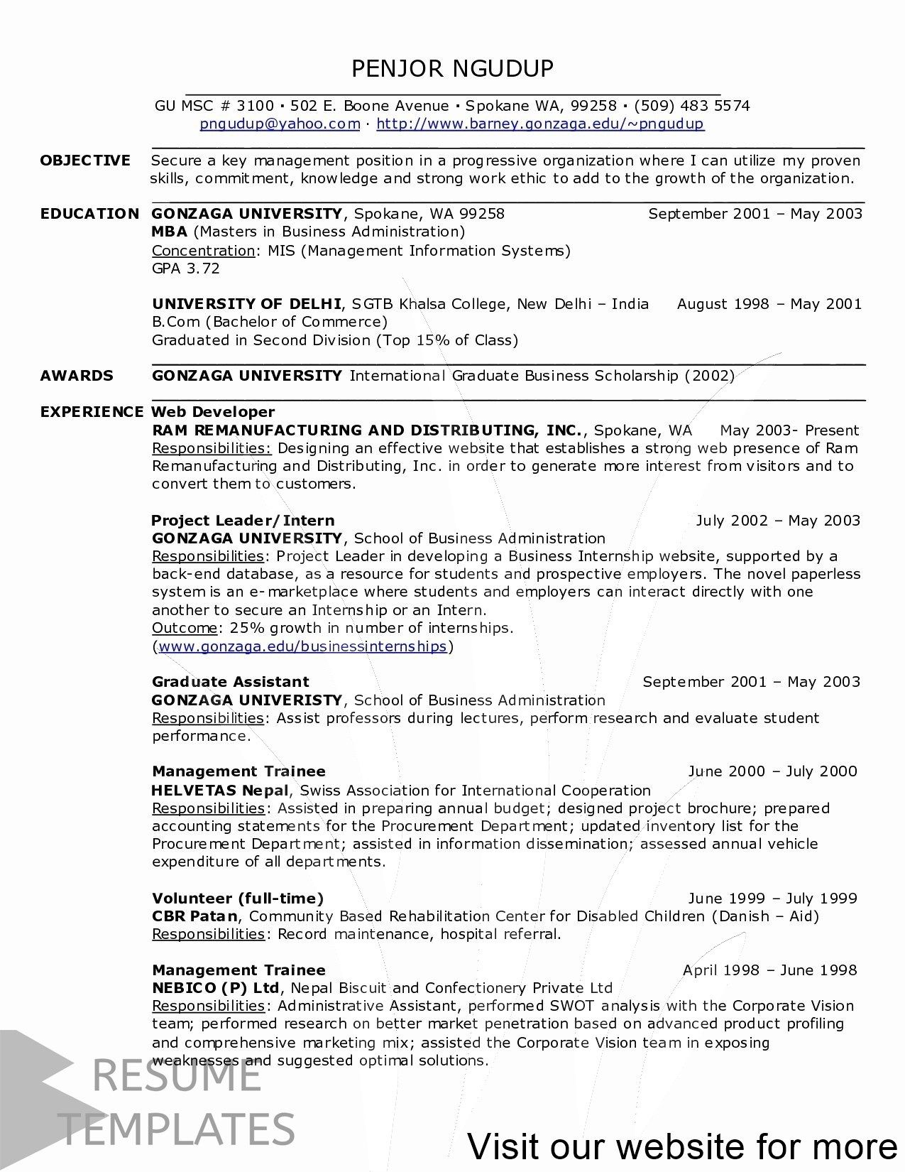 cute resume template free Professional in 2020 Resume
