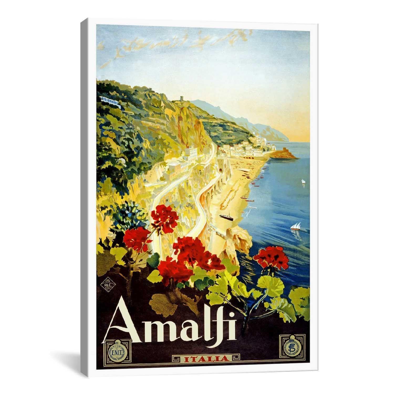 iCanvas Amalfi Advertising Vintage Poster #5241 Canvas Print Wall ...