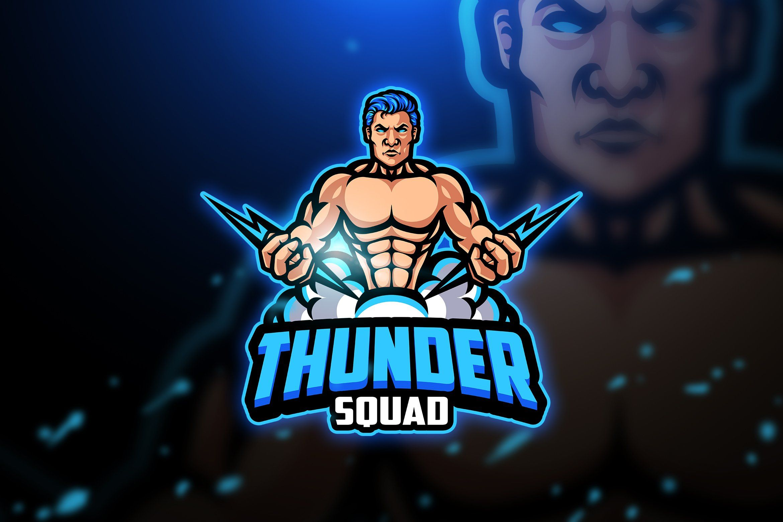 Thunder Mascot Esport Logo Ilustrasi Karakter Logo Keren Desain Logo