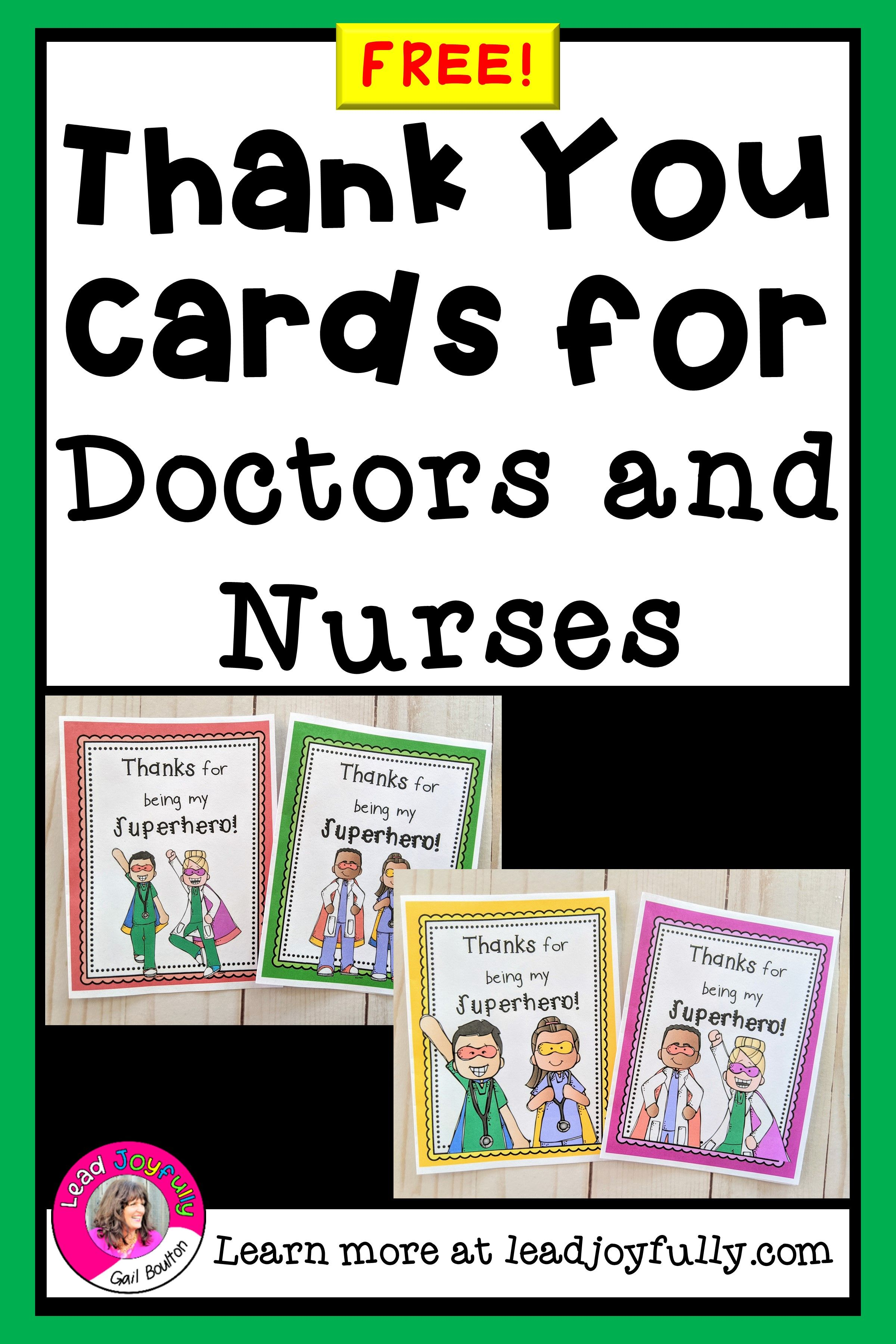 Free Download Thank You Cards For Doctors And Nurses