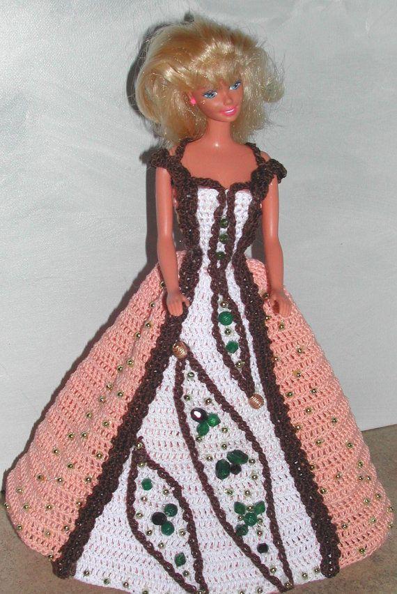 Crochet Fashion Doll Barbie Pattern- #645 Design You Own EVENING ...