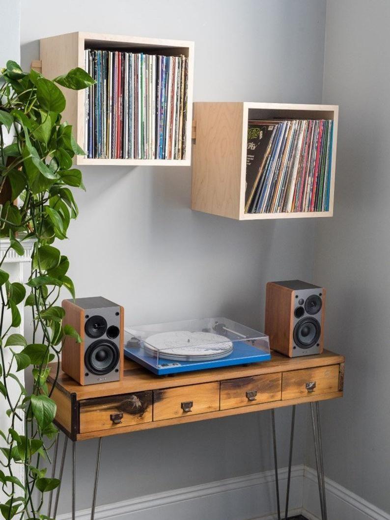 Pin on Vinyl record furniture