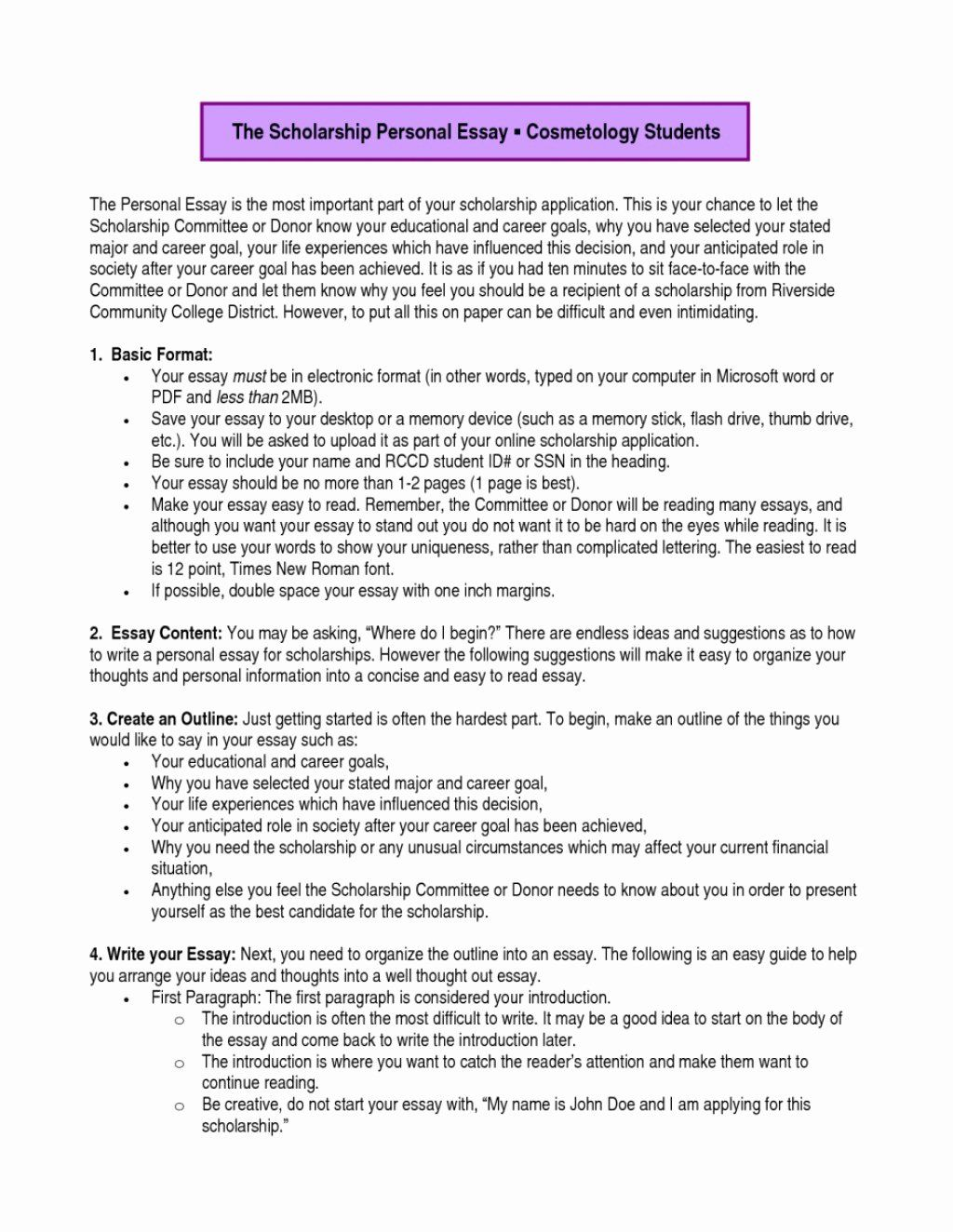 Statement Of Academic Goal Example Best 009 Educational And Career Essay Scholarship Examples Sample