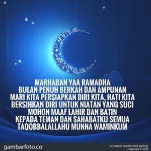 Kata Ucapan Menyambut Bulan Ramadhan 2018 Dengan Gambar
