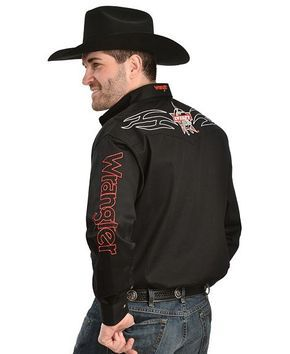 f4eab1c057988 Wrangler PBR Embroidered Rodeo Western Shirt - Sheplers