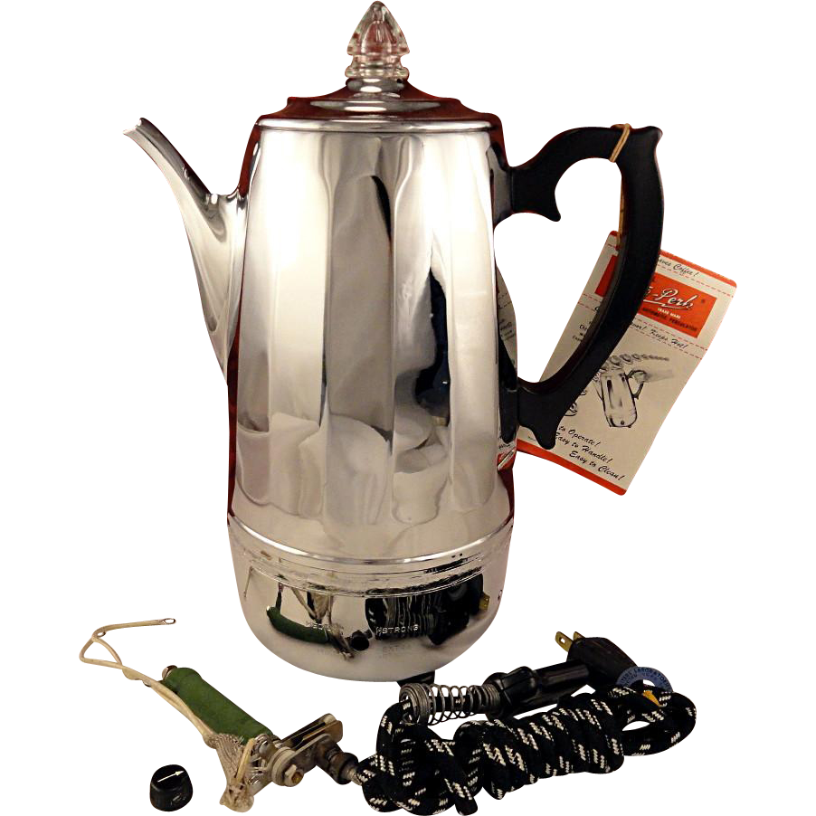 Beautiful Unused Vintage 1950 Continental Auto Perk 12 Cup Automatic Electric Coffee Pot Percolator Vintagebeginshere At Ww Vintage Coffee Coffee Coffee Pot