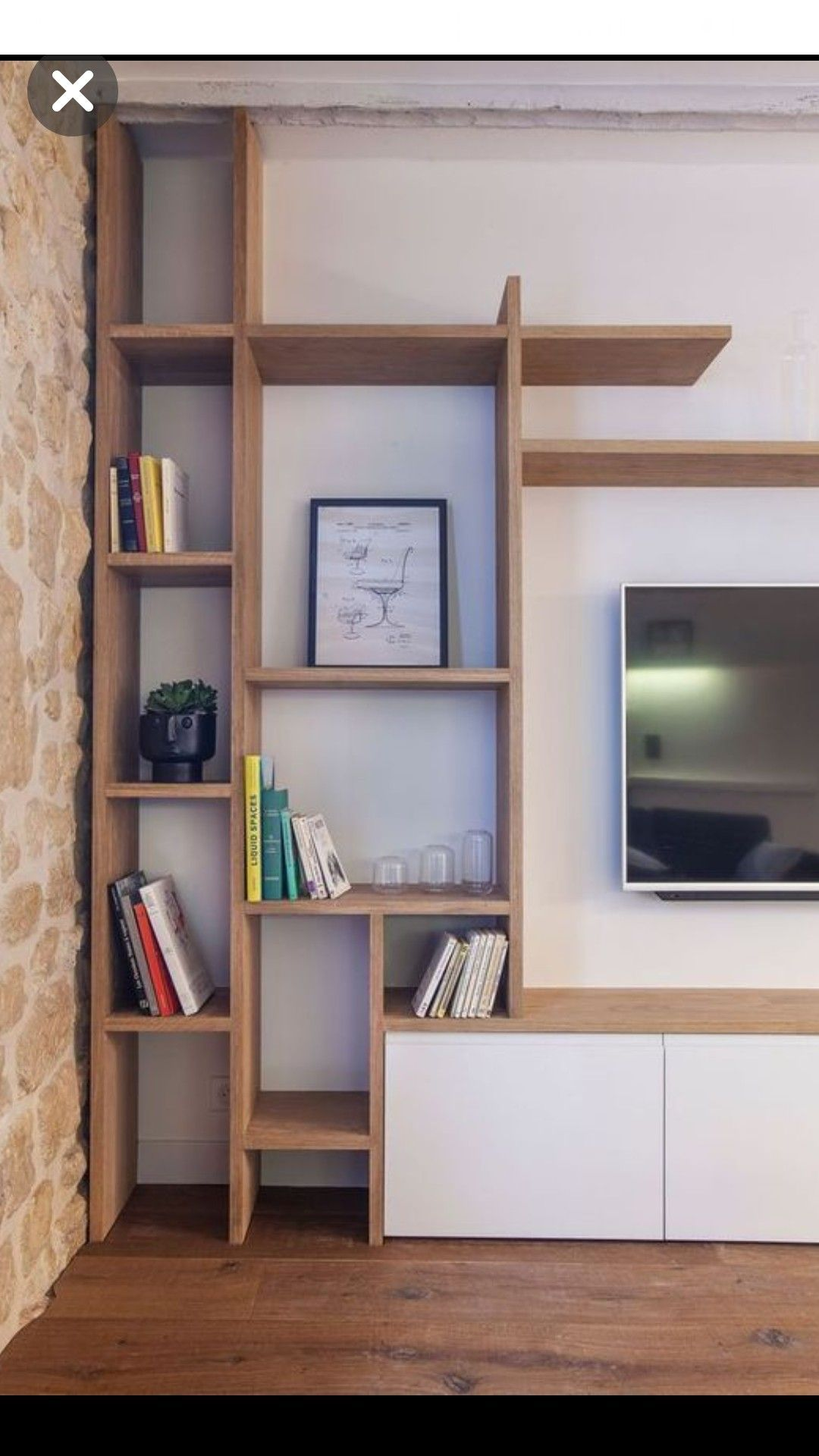 Wood Shelf Above Bed