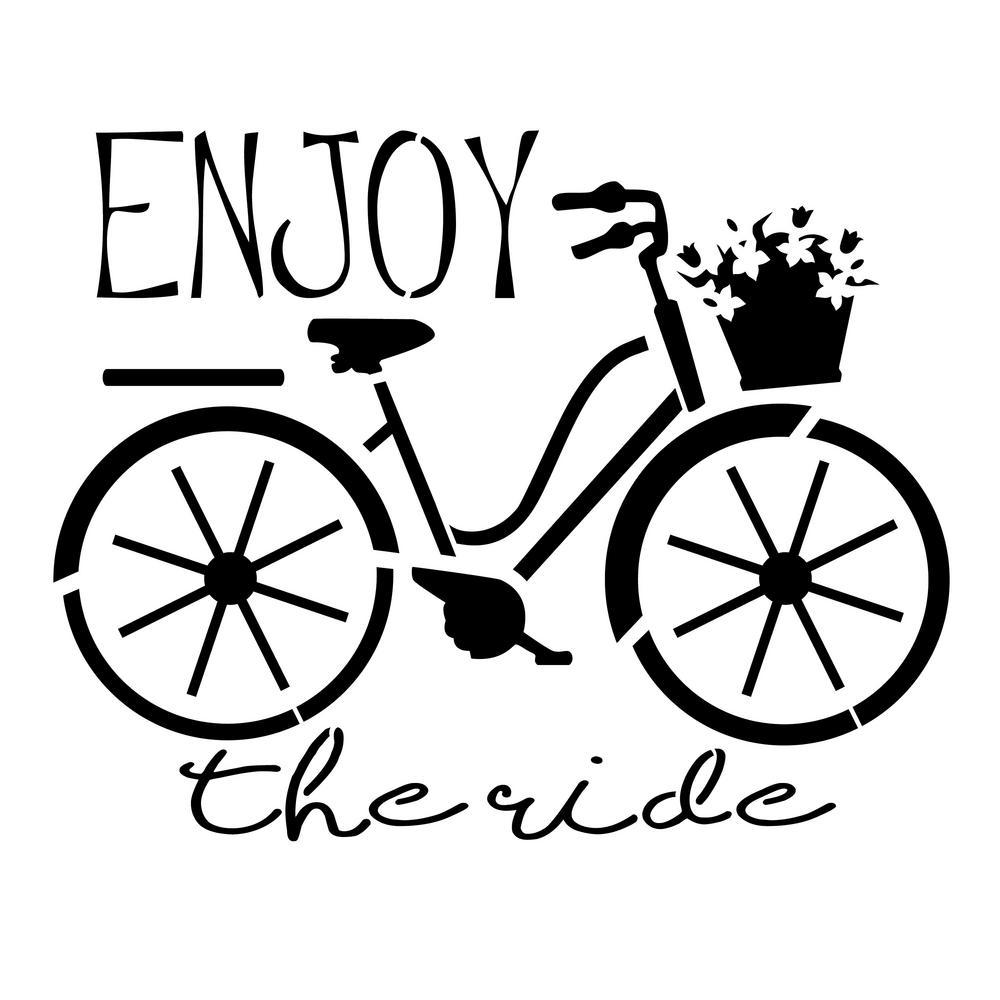 Designer Stencils Enjoy the Ride Bicycle Stencil FS050 - The Home Depot