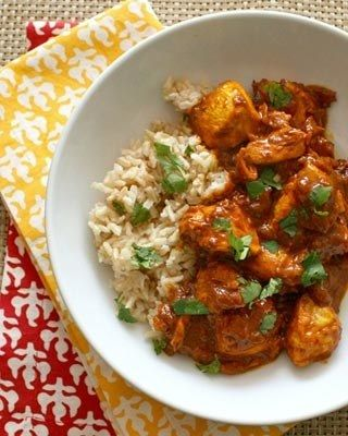 Butter chicken, minus the butter  instead use coconut oil and maple sugar instead of br sugar