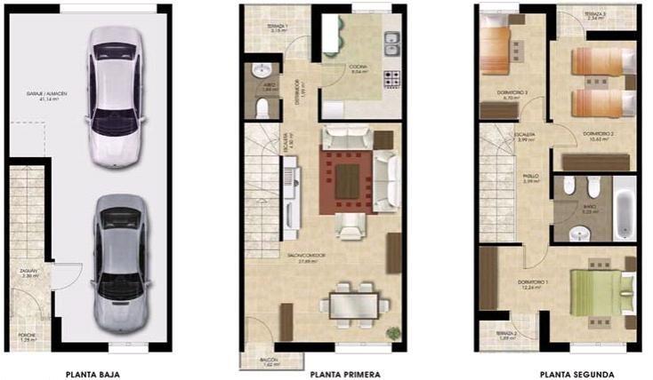 Casas Adosadas Planos Planos De Casas Casa Adosada Planos De Casas 10x20
