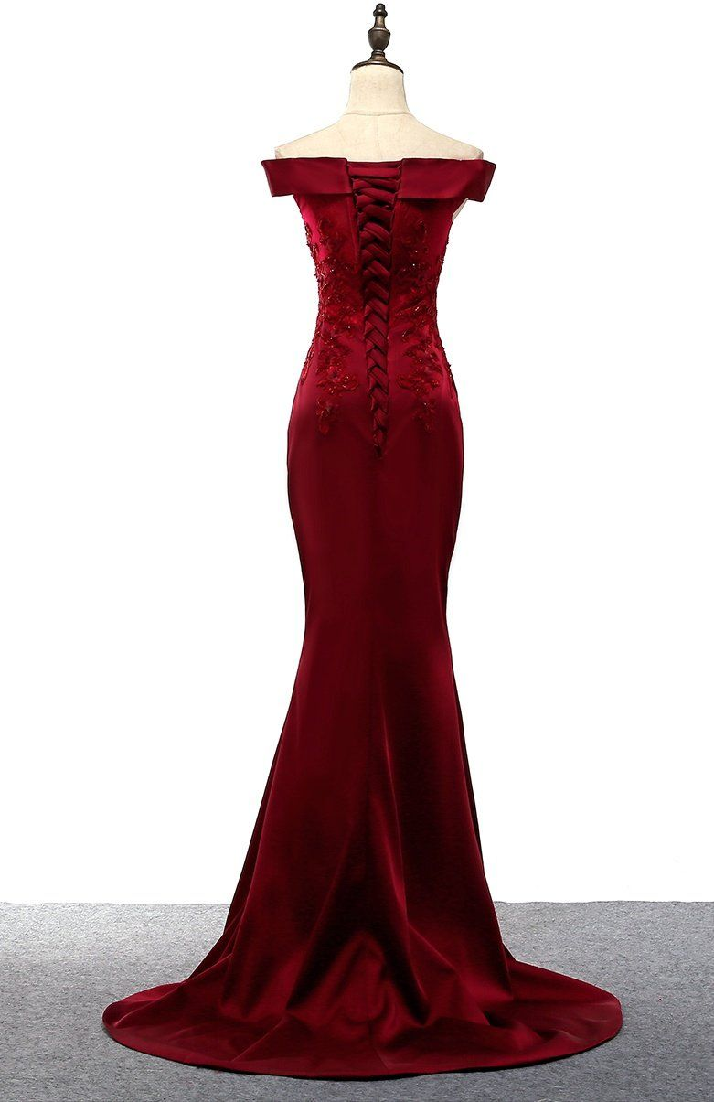 Any Things Please Feel Free To Contact To Us Weddingpromdresses Outlook Com Product Off Shoulder Evening Dress Burgundy Prom Dress Lace Evening Gowns