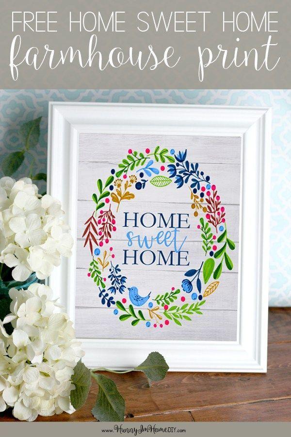 Free Farmhouse Printable Wall Art printable Pinterest Home