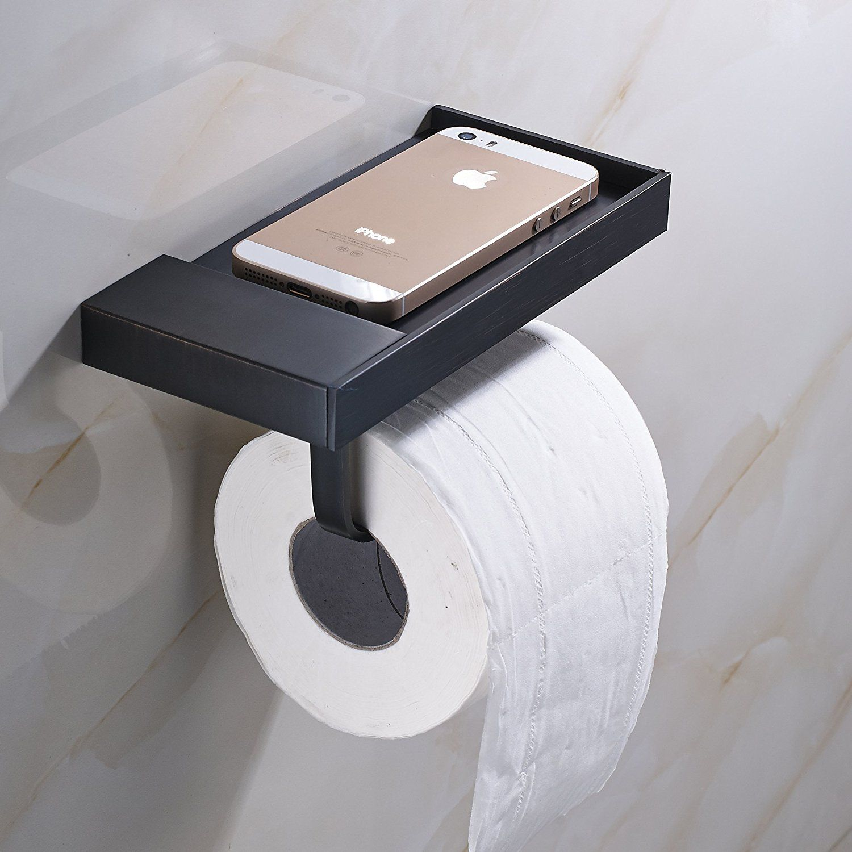 Amazon Com Rozinsanitary Wall Mounted Toilet Paper Holder Antique Brass Holder Home Kitchen Toilet Bathroom Wall Shelves