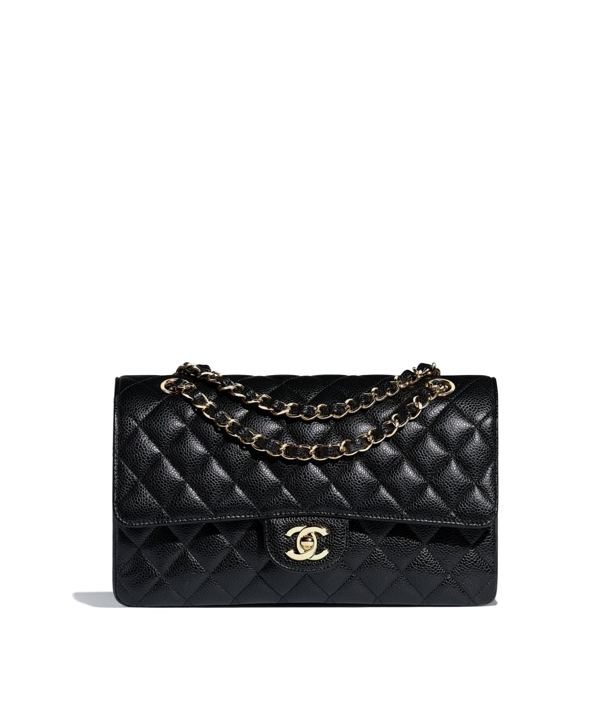 fa8e2e7d44f6 Handbags of the Spring-Summer 2019 Pre-Collection CHANEL Fashion collection  : Classic Handbag, grained calfskin & gold-tone metal, black on the CHANEL  ...