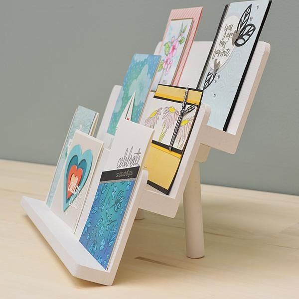 Card Display Stand Diy Instructions Craft Booth Displays Craft Stall Display Greeting Card Display Stand