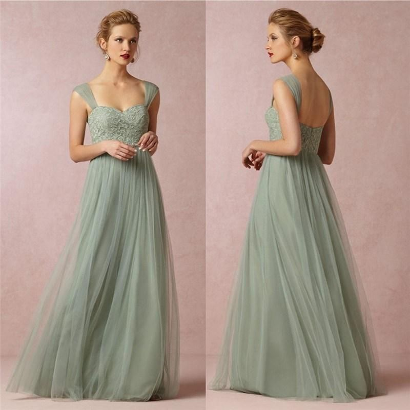 low cost wedding dresses in atlantga%0A Wholesale Bridesmaid Dresses  Buy Sage Color Sheer Straps Lace Bodice  Vintage Wedding Dresses For Bridesmaid