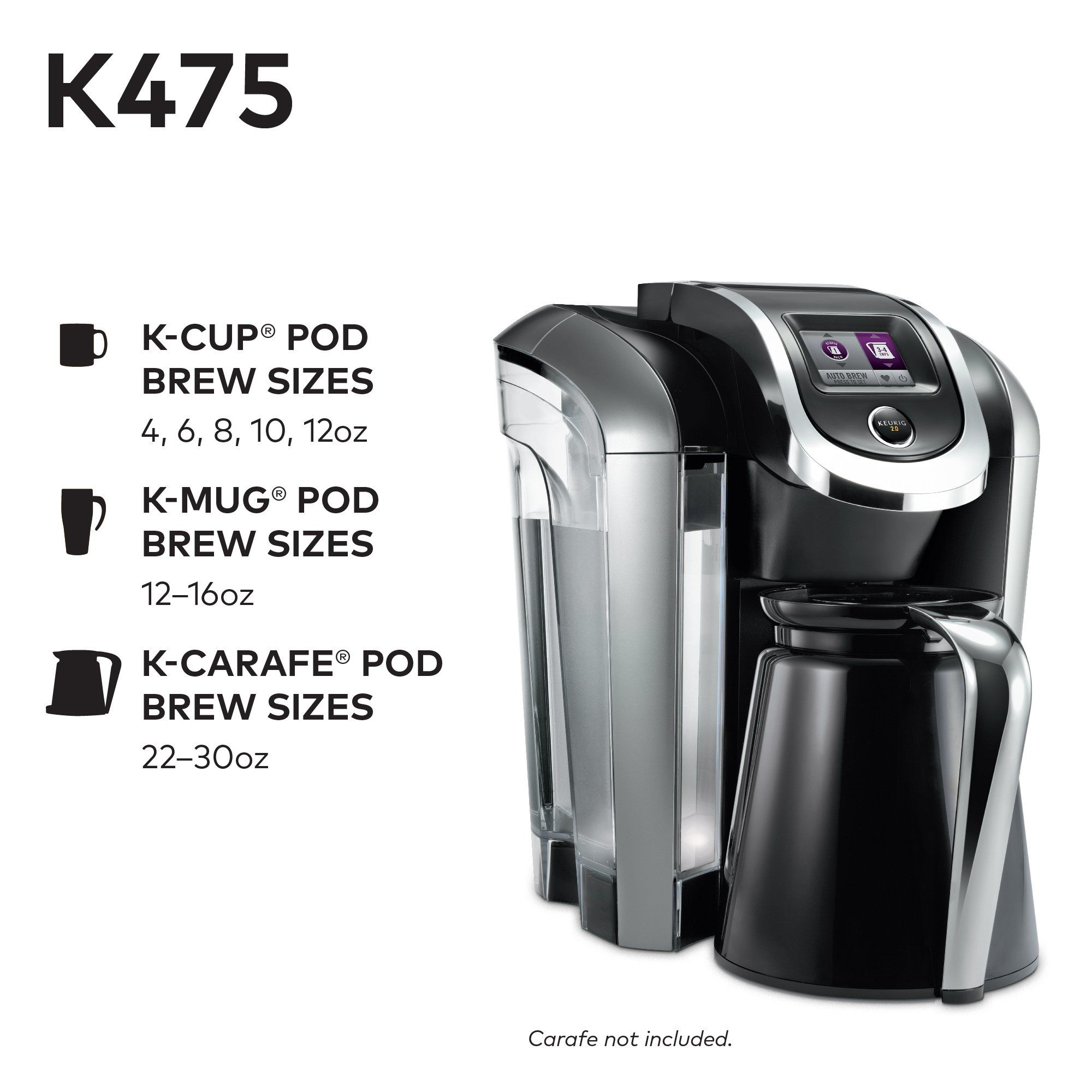 Keurig k single serve kcup pod coffee maker with oz brew size