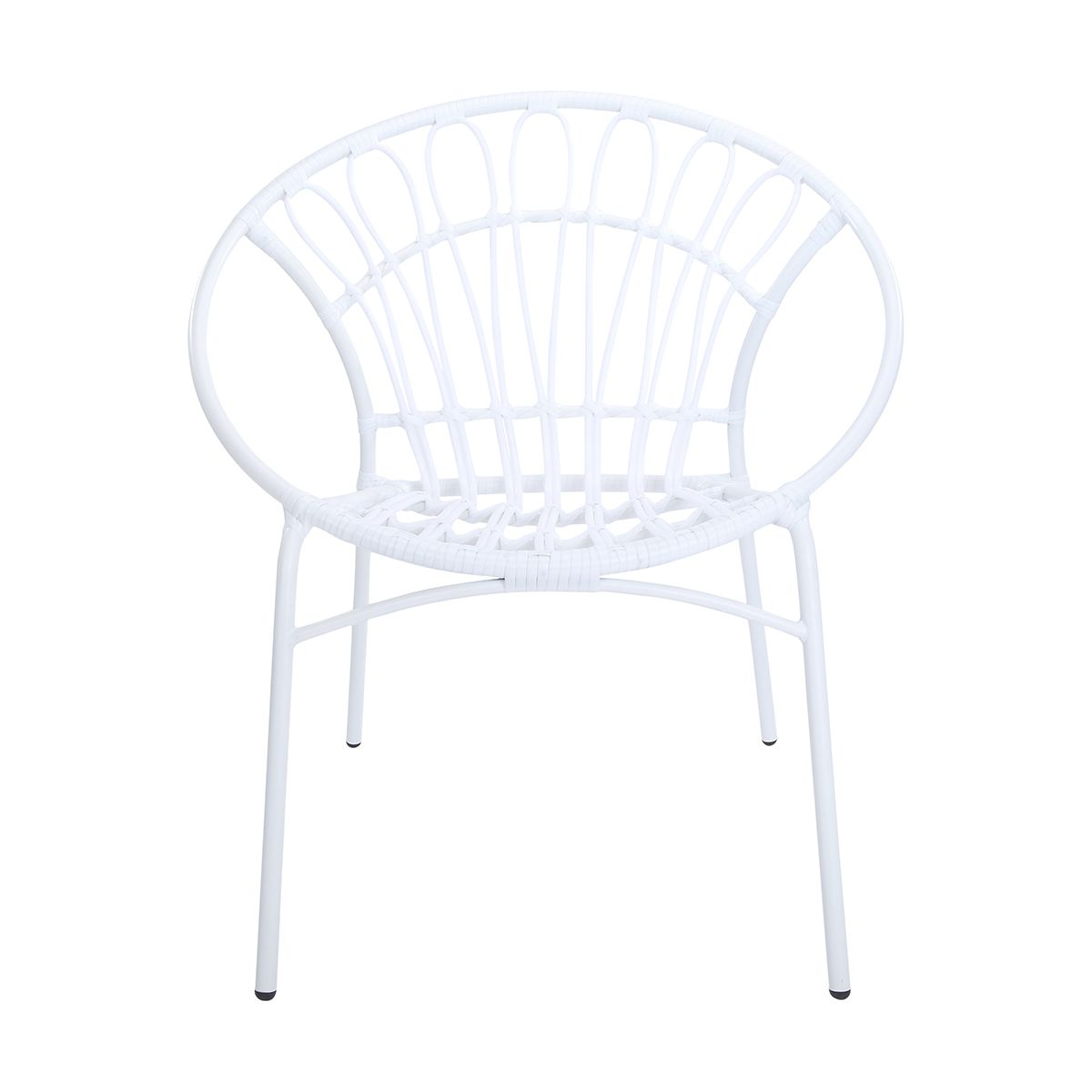 Rattan look chair white kmart