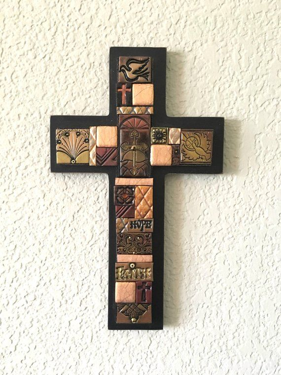 Wood Cross Decorative Crosses Religious Home Decor Christian Gift Wall Hanging Wedding Present