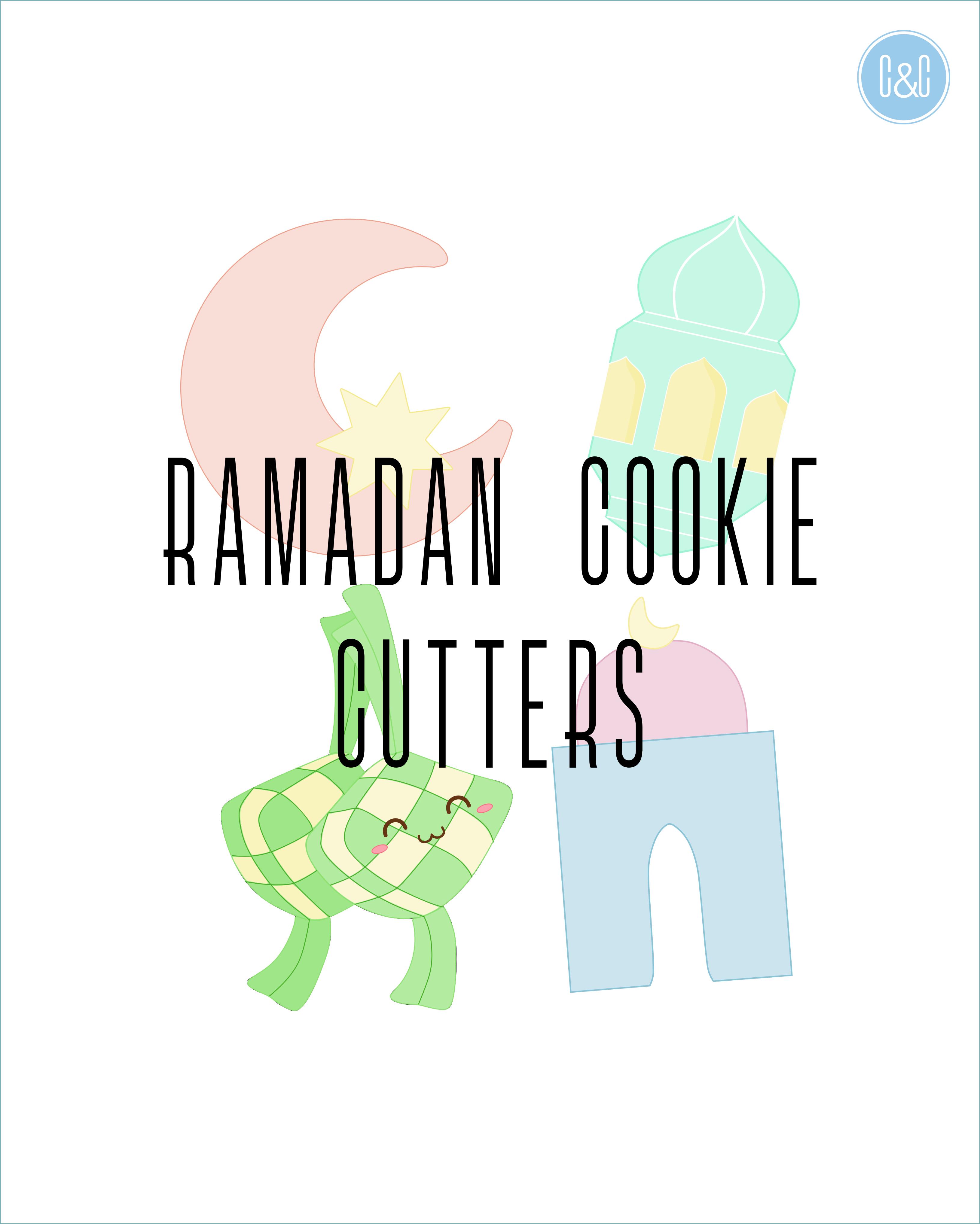 Ramadan Kareem Eid Mubarak Hari Raya Cookie Cutter Embosser Mosque Star Moon Ketupat Lantern Ramadan Baby Shower Party Decorations Etsy