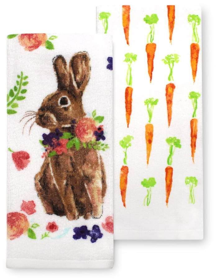Celebrate Easter Together Easter Bunny Kitchen Towel 2 Pk