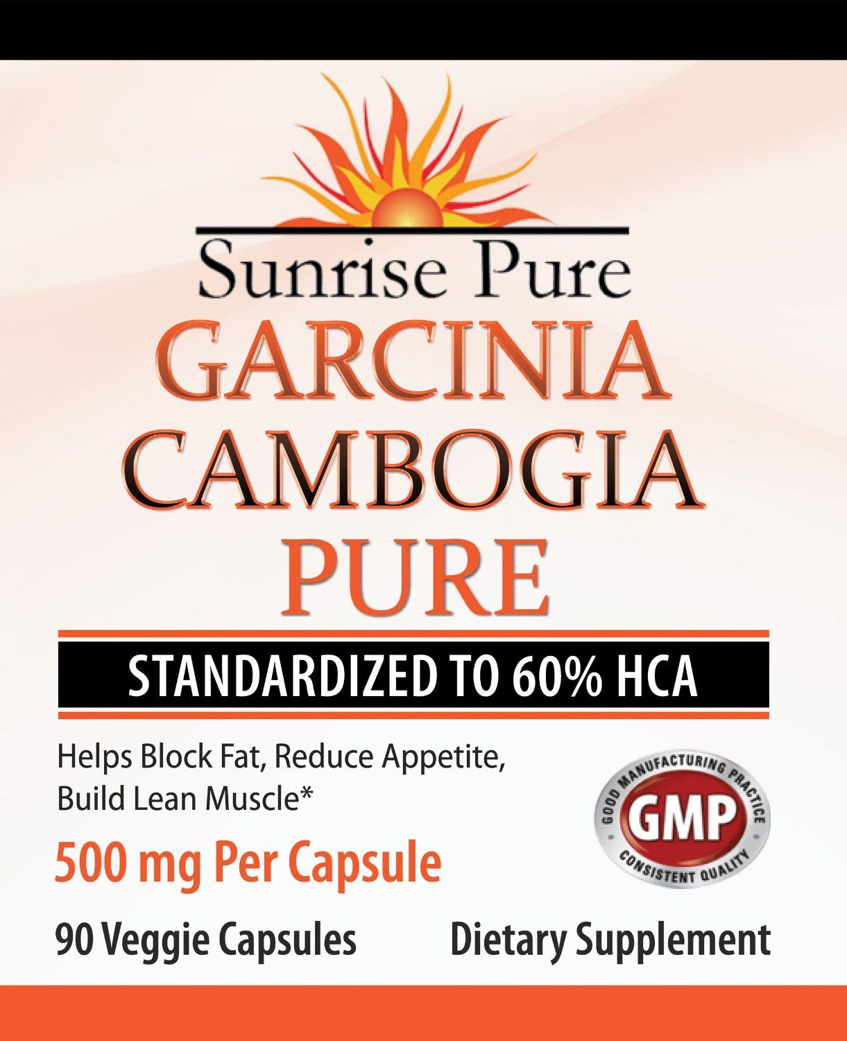 Amazon.com: Sunrise Pure Garcinia Cambogia Extract - #1 Clinically Proven 60% HCA - 90 Veg Capsules, 500mg - 100% Natural - 100% Pure - SUNRISE PURE WEIGHT LOSS GUARANTEE: Health & Personal Care
