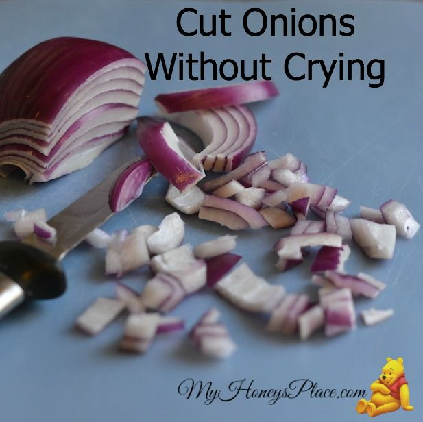 how to cut an onion without crying video