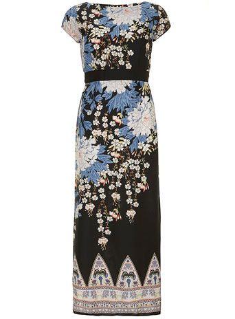 Dorothy Perkins   Petite Black Floral Maxi Dress