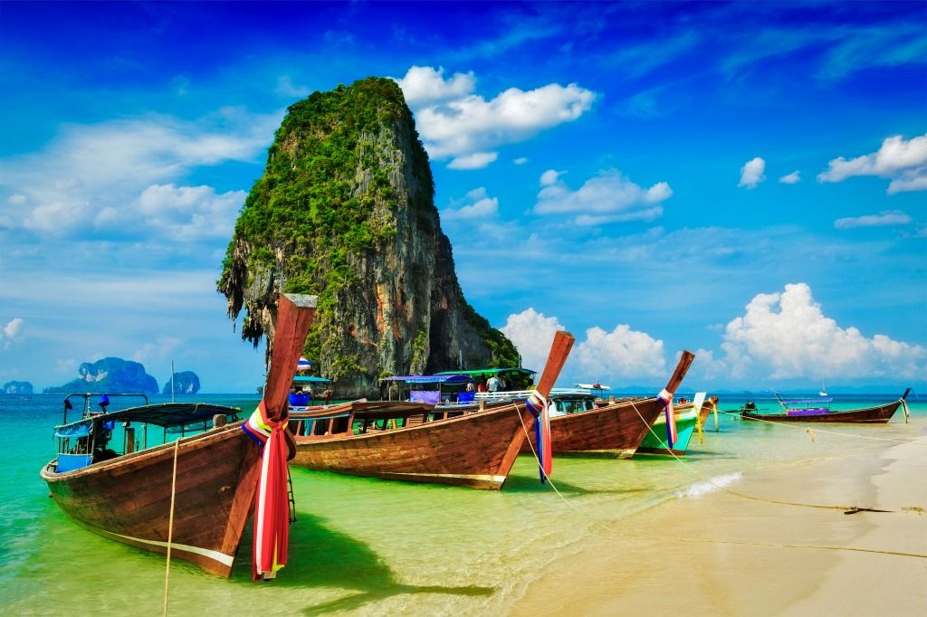 Limestone Rock, Krabi, Thailand jigsaw puzzle in Puzzle of the Day puzzles on…