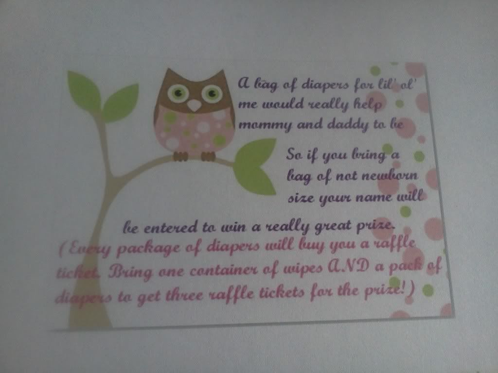 baby shower invitation wording for bringing diapers%0A Diaper raffle wording